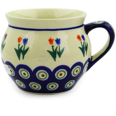 Polish Pottery 12 oz Bubble Mug | Boleslawiec Stoneware | Polmedia H9147D