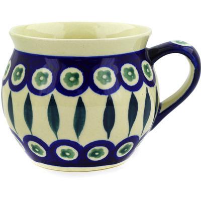 Polish Pottery 12 oz Bubble Mug | Boleslawiec Stoneware | Polmedia H9149D