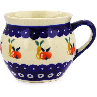 Polish Pottery 12 oz Bubble Mug | Boleslawiec Stoneware | Polmedia H9150D