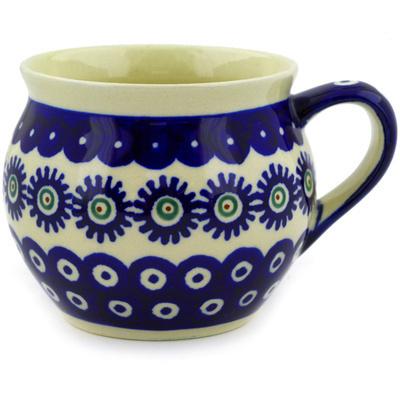 Polish Pottery 12 oz Bubble Mug | Boleslawiec Stoneware | Polmedia H9152D