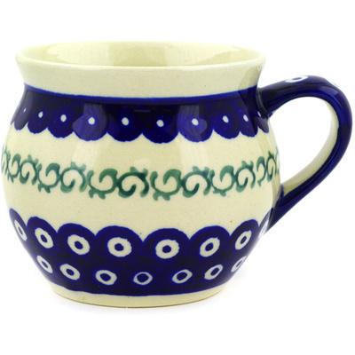 Polish Pottery 12 oz Bubble Mug | Boleslawiec Stoneware | Polmedia H9153D