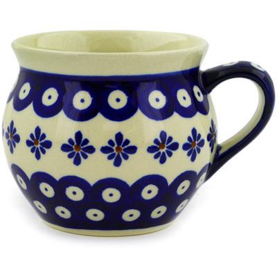 Polish Pottery 12 oz Bubble Mug | Boleslawiec Stoneware | Polmedia H9156D
