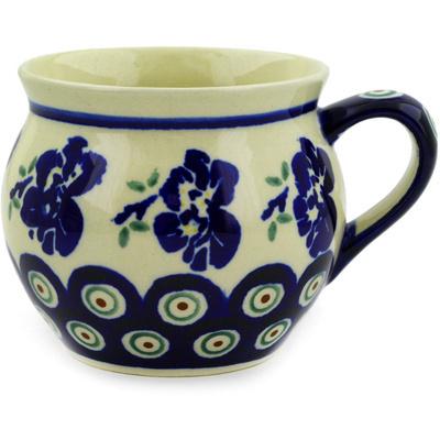 Polish Pottery 12 oz Bubble Mug | Boleslawiec Stoneware | Polmedia H9162D
