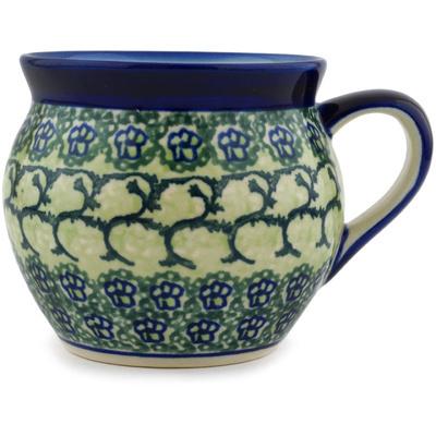 Polish Pottery 12 oz Bubble Mug | Boleslawiec Stoneware | Polmedia H7533C