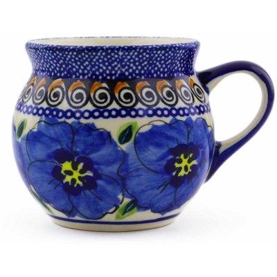 Polish Pottery 7 oz Bubble Mug | Boleslawiec Stoneware | Polmedia H6237C
