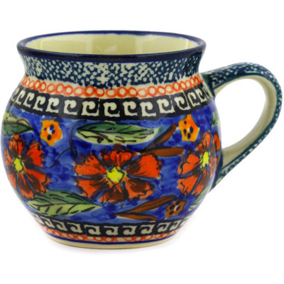 Polish Pottery 7 oz Bubble Mug | Boleslawiec Stoneware | Polmedia H1412E