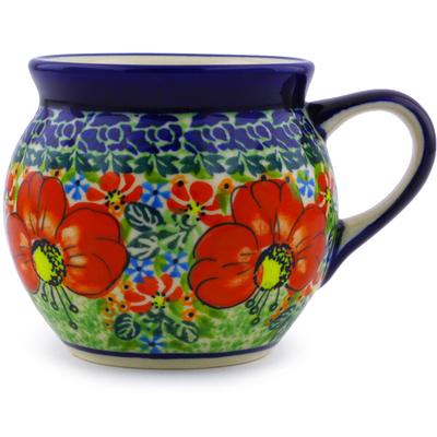 Polish Pottery 7 oz Bubble Mug | Boleslawiec Stoneware | Polmedia H4357I