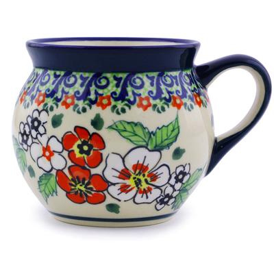 Polish Pottery 7 oz Bubble Mug | Boleslawiec Stoneware | Polmedia H4358I