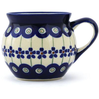 Polish Pottery 7 oz Bubble Mug | Boleslawiec Stoneware | Polmedia H0929A