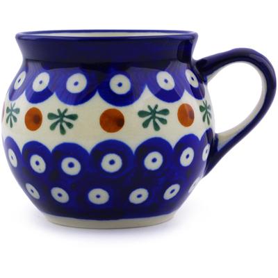 Polish Pottery 7 oz Bubble Mug | Boleslawiec Stoneware | Polmedia H4359I