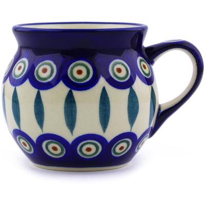 Polish Pottery 7 oz Bubble Mug | Boleslawiec Stoneware | Polmedia H4360I