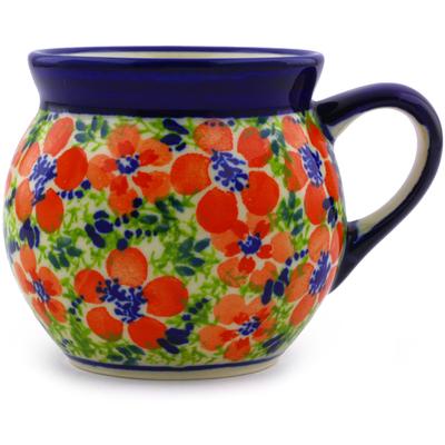 Polish Pottery 7 oz Bubble Mug | Boleslawiec Stoneware | Polmedia H4361I