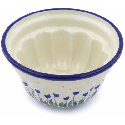 Polish Pottery 5-inch Bundt Cake Pan | Boleslawiec Stoneware | Polmedia H0530J