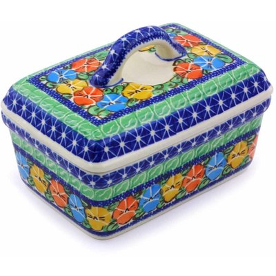 Polish Pottery 5-inch Butter Dish | Boleslawiec Stoneware | Polmedia H2581A