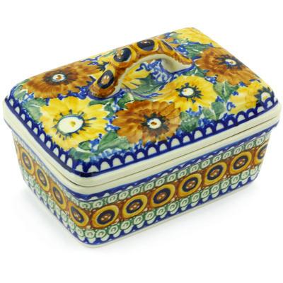 Polish Pottery 5-inch Butter Dish | Boleslawiec Stoneware | Polmedia H4084G