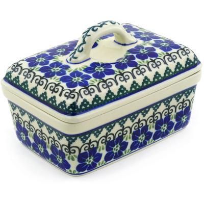 Polish Pottery 5-inch Butter Dish | Boleslawiec Stoneware | Polmedia H3936F