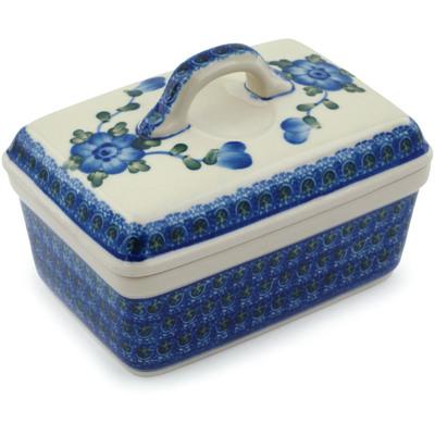 Polish Pottery 5-inch Butter Dish | Boleslawiec Stoneware | Polmedia H8748A