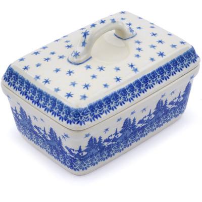 Polish Pottery 5-inch Butter Dish | Boleslawiec Stoneware | Polmedia H0987J
