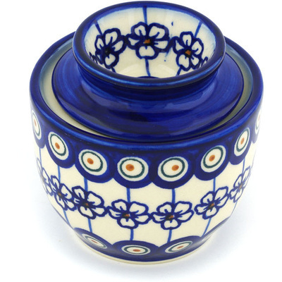 Polish Pottery 4-inch Butter Dish | Boleslawiec Stoneware | Polmedia H1219H