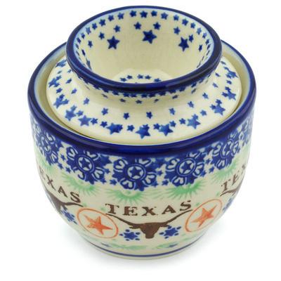 Polish Pottery 4-inch Butter Dish | Boleslawiec Stoneware | Polmedia H8197H
