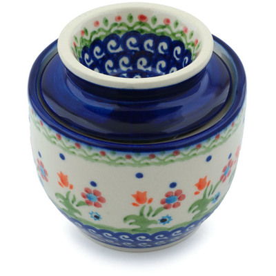 Polish Pottery 4-inch Butter Dish   Boleslawiec Stoneware   Polmedia H1031H
