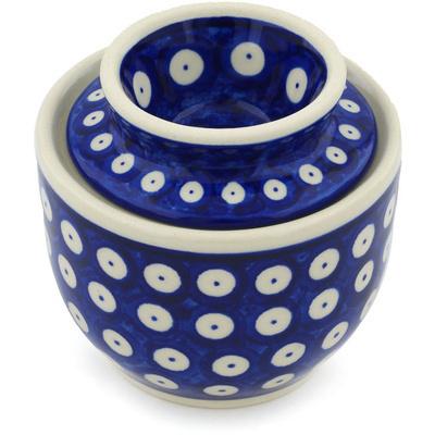Polish Pottery 4-inch Butter Dish | Boleslawiec Stoneware | Polmedia H3505H