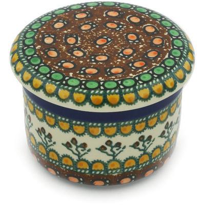 Polish Pottery 4-inch Butter Dish | Boleslawiec Stoneware | Polmedia H9054G