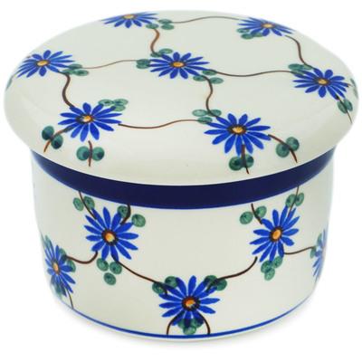 Polish Pottery 4-inch Butter Dish | Boleslawiec Stoneware | Polmedia H0558B