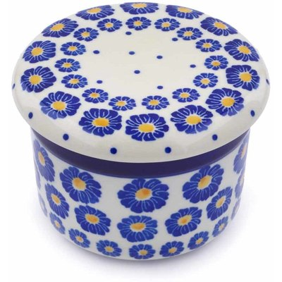 Polish Pottery 4-inch Butter Dish | Boleslawiec Stoneware | Polmedia H1043J