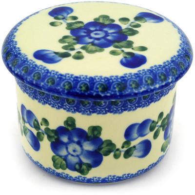 Polish Pottery 4-inch Butter Dish | Boleslawiec Stoneware | Polmedia H2422D