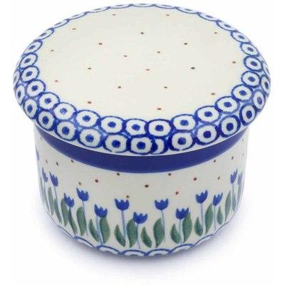 Polish Pottery 4-inch Butter Dish | Boleslawiec Stoneware | Polmedia H0613J