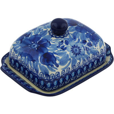 Polish Pottery 7-inch Butter Dish | Boleslawiec Stoneware | Polmedia H0107G