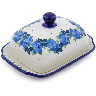 Polish Pottery 7-inch Butter Dish | Boleslawiec Stoneware | Polmedia H1099J