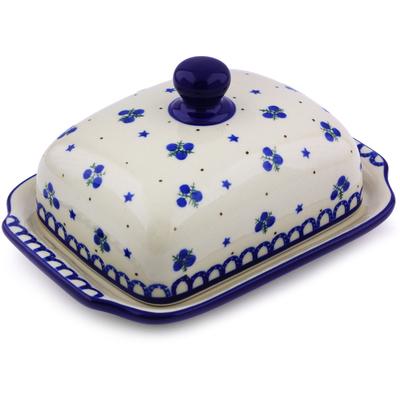 Polish Pottery 7-inch Butter Dish | Boleslawiec Stoneware | Polmedia H0007I