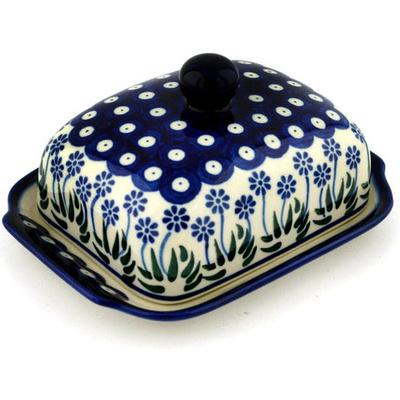Polish Pottery 7-inch Butter Dish | Boleslawiec Stoneware | Polmedia H3229B