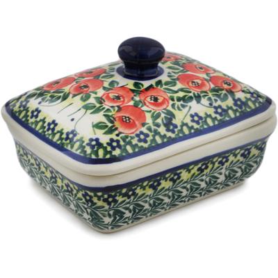 Polish Pottery 5-inch Butter Dish | Boleslawiec Stoneware | Polmedia H4913I