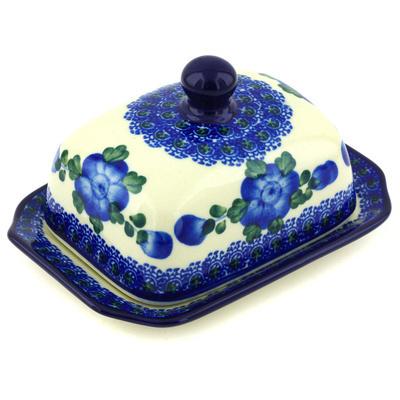 Polish Pottery 6-inch Butter Dish | Boleslawiec Stoneware | Polmedia H5032G
