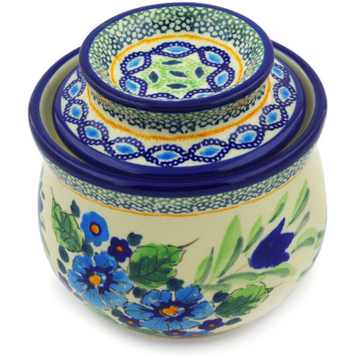 Polish Pottery 4-inch Butter Dish | Boleslawiec Stoneware | Polmedia H4800E