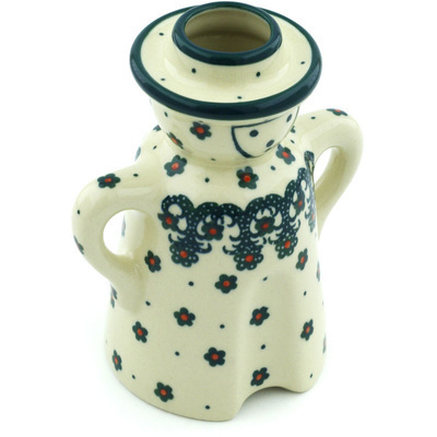 Polish Pottery 5-inch Candle Holder | Boleslawiec Stoneware | Polmedia H6373H