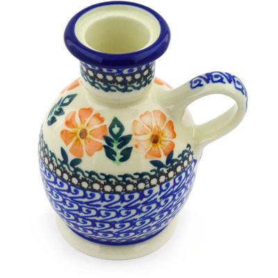 Polish Pottery 4-inch Candle Holder | Boleslawiec Stoneware | Polmedia H5827E