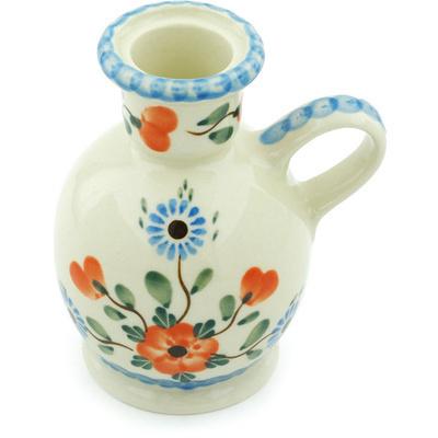 Polish Pottery 4-inch Candle Holder   Boleslawiec Stoneware   Polmedia H5514H