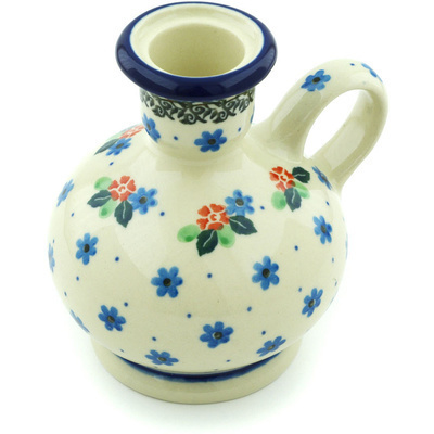 Polish Pottery 4-inch Candle Holder | Boleslawiec Stoneware | Polmedia H5368H