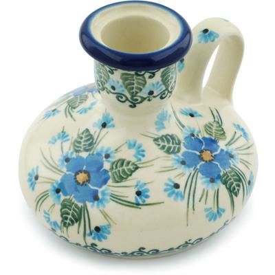 Polish Pottery 4-inch Candle Holder | Boleslawiec Stoneware | Polmedia H0709I