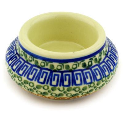 Polish Pottery 3-inch Candle Holder | Boleslawiec Stoneware | Polmedia H1833D