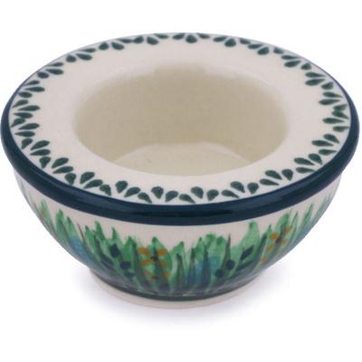 Polish Pottery 3-inch Candle Holder | Boleslawiec Stoneware | Polmedia H6354G