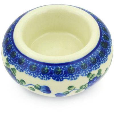 Polish Pottery 3-inch Candle Holder | Boleslawiec Stoneware | Polmedia H4394G