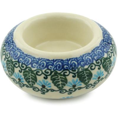 Polish Pottery 3-inch Candle Holder | Boleslawiec Stoneware | Polmedia H6066I