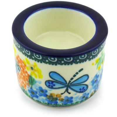 Polish Pottery 3-inch Candle Holder | Boleslawiec Stoneware | Polmedia H6033G