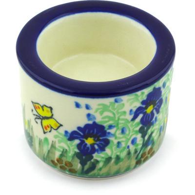 Polish Pottery 3-inch Candle Holder | Boleslawiec Stoneware | Polmedia H5488G