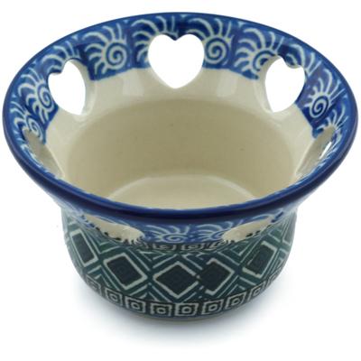 Polish Pottery 4-inch Candle Holder | Boleslawiec Stoneware | Polmedia H0204I
